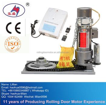 Dc 600kg roller shutter door parts opener battery for Electric garage door motor