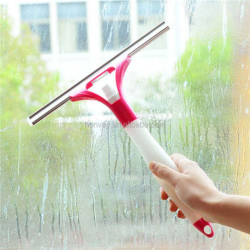 Spray Type Glass Wiper Magnetic Window Squeegee Cleaner Car Window Wizard Washing Tool