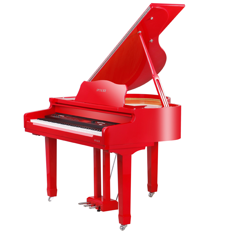 Wholesale 88 Keys Red Polish Digital Triple Pedal Mini Grand Piano for Sale China Piano Factory