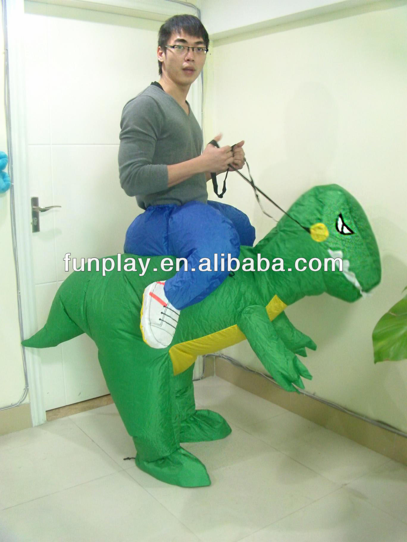 2014 Top sale inflatable dinosaur costume