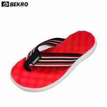 wholesale cotton fabric wide straps upper slippers soft mens walking flip flops