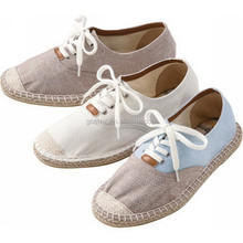 GCE655 2015 plain white casual canvas spain espadrille hand made shoes in high quality