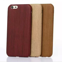 wood grain ultrathin back cover smartphone case for iphone 5/5s