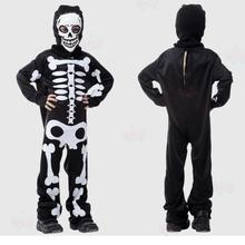 Classic children skeleton costume for cosplay