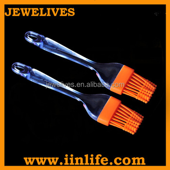 Fancy design silicone star shaped tip 3 sided grill brush