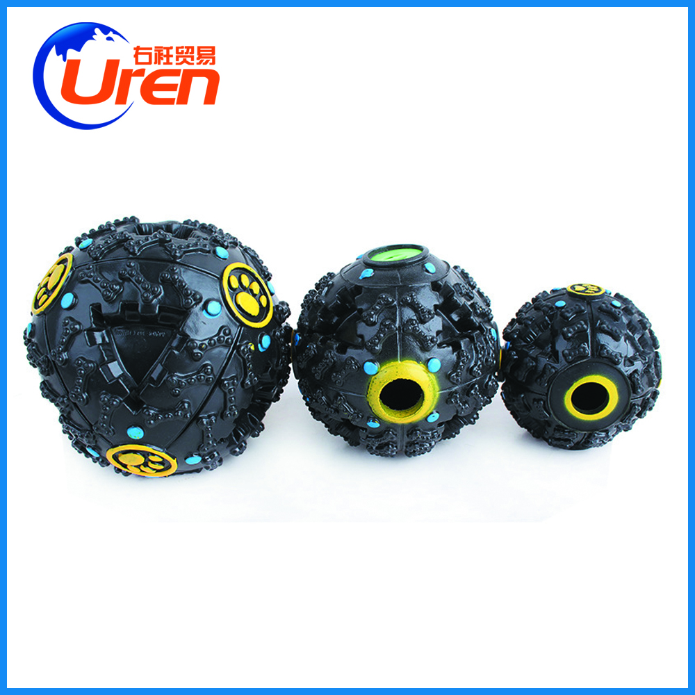 PROMOTIONAL RUBBER BALL TREAT DISPENSERS RUBBER TOY DOG TOY
