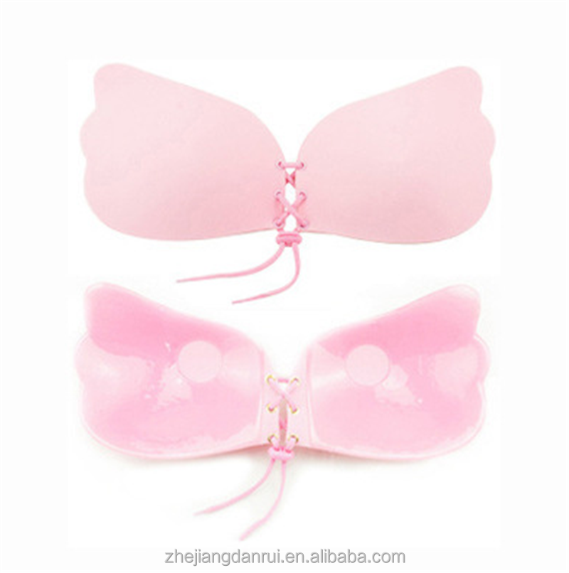 Fantastic Strapless Backless Silicone Terlihat Mendorong Up Bra