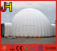 Customized White Inflatable Bunbble Dome Tent With 2 Tunnels