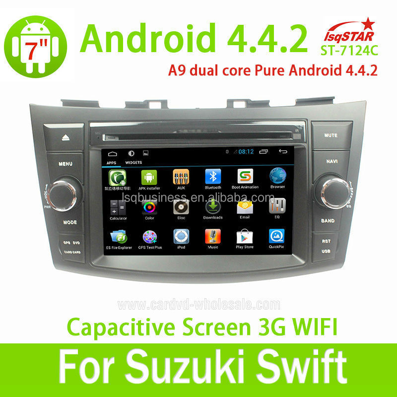 High quality touch screen android 4.4 car dvd player for Suzuki Swift 2011-2012 car radio dvd gps navigation system