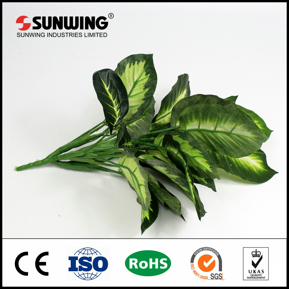 best prices green artificial bunch plants wih leaves for party decoration