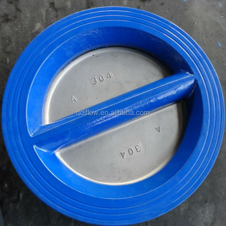 Wafer type butterfly check valve for water use