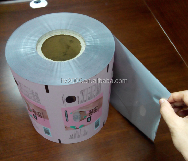 laminate PE customized printed plastic bag rolls