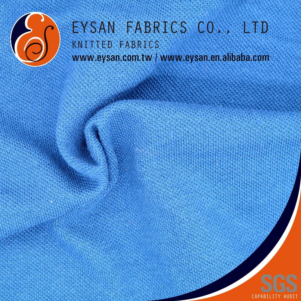 EYSAN For Polo Shirt Shrink-Resistant 100% Cotton Pique Jersey Fabric