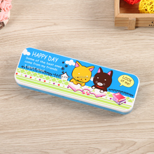 double layer plastic pencil case for back to school DMS006