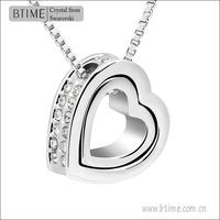 High Quality 18K Gold Swarovski Elements Heart Pendant Necklace
