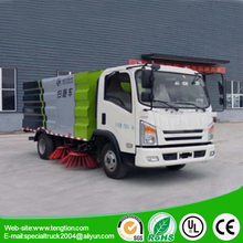 China brand 3~4CBM runway sweeper truck/highway sweepers and Heavy Trucks For Sale