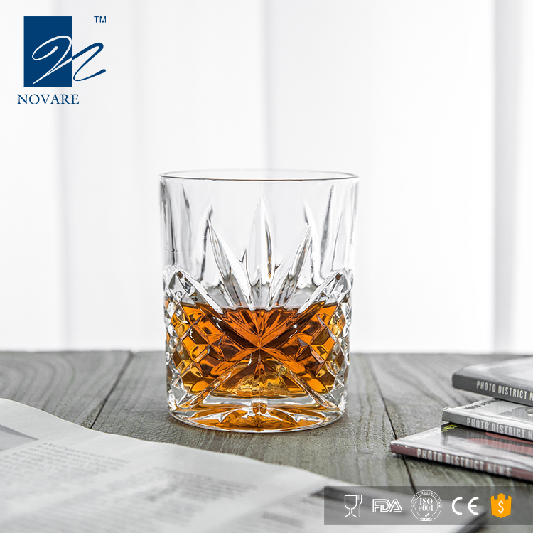 NOVARE 310ml Non-leaded Crystal Old Fashioned Whiskey Glass Scotch Glass