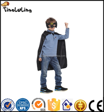 Cute kids cosplay cape and mask custom polyester superhero cape wholesale