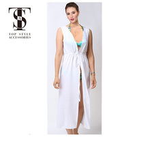 Top selling products 2018 summer ladies tassels long kimono dress