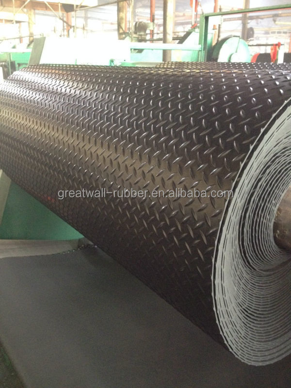 Great Wall 3mm thickness 65 Duro Anti-slip flooring Willow rubber sheet for gyms