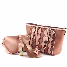 High End Lady handbag Beautiful shoes and bag set High Quality wedding party shoes and bag to match Women shoes