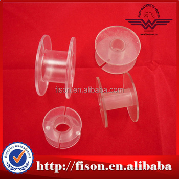 Empty plastic spool of crystal string,clear spool