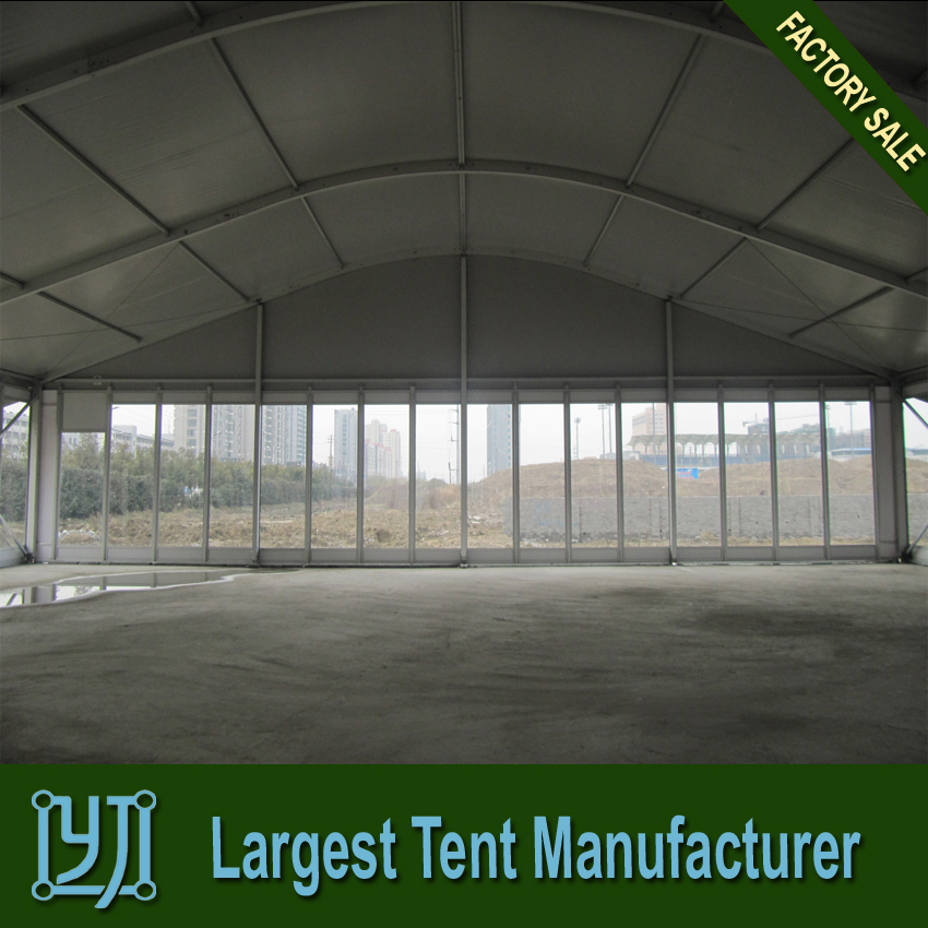 Large arc maruqee tent with glass wall for events buy Cheap wall tents for sale
