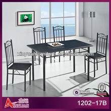Cheap price wooden black lacquer dining room furniture sets