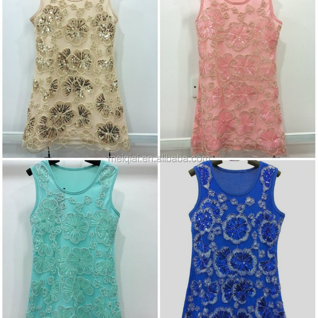 The beauty of the kids Lace Dresses Sequins with children Dresses Irregular side skirt Girls Flowers Dresses