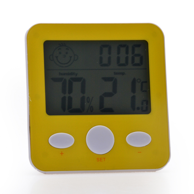 Indoor Humidity Monitor Meter Digital Thermometer Hygrometer with LCD Display