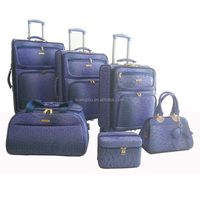 Crocodile Pu Leather Travel Luggage Trolley