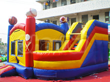 Commercial inflatable bouncer castle with slide, inflatable combe