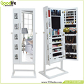 FOB ShenZhen wooden jewelry cabinet with full length mirror