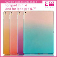 Colorful Rainbow Soft Clear TPU Gel Case For Ipad Mini 4