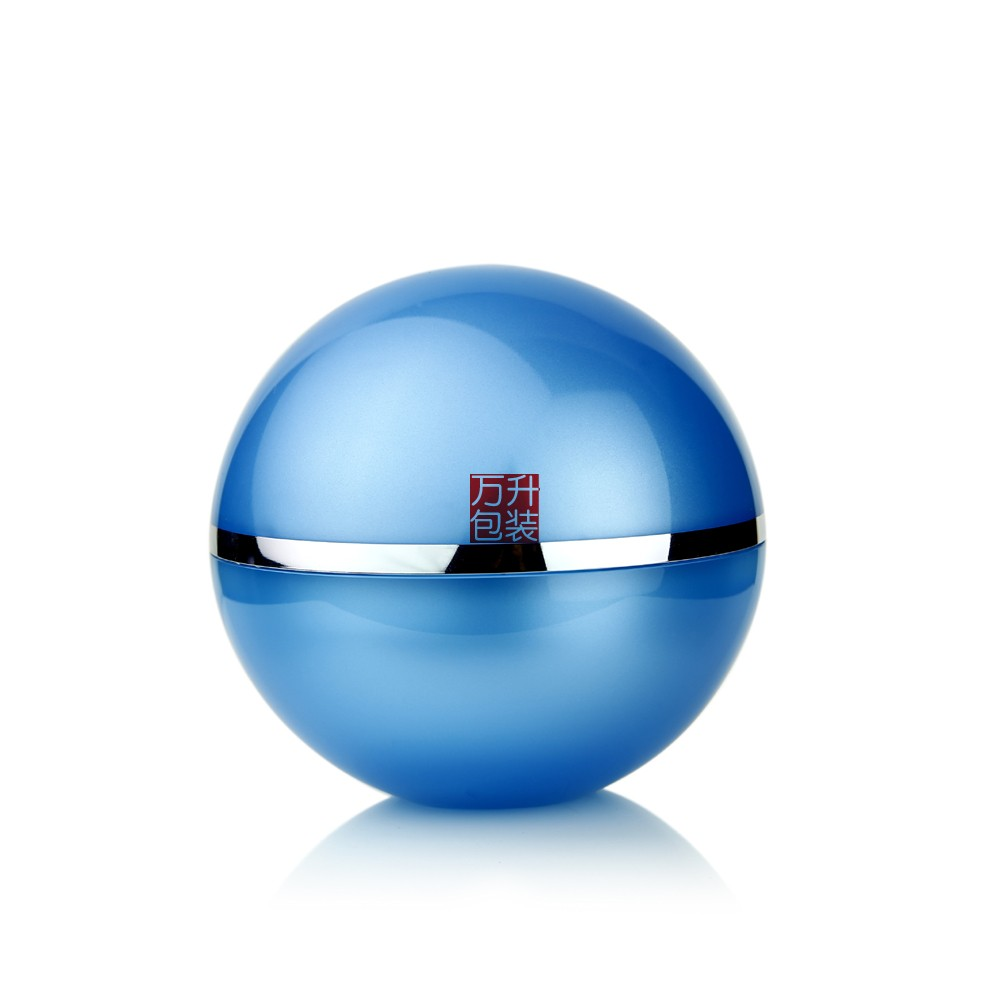 Ball Type Cosmetic Cream Jar Coloured Transparent Jar 100ML
