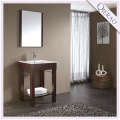24'' Modern Dark Walnut Wooden Bathroom Vanity QI-1058