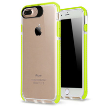 Fancy Color Soft Transparent Clear TPU Case For iPhone 7 Plus , Shockproof Phone Case Cover For iPhone 7 Plus