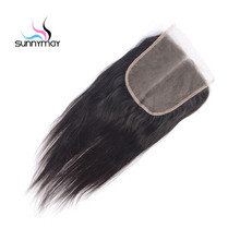Cheap Lace Front Closure Natural Hairline 6x6 Lace Closure Brazilian Hair Piece With Baby Hair