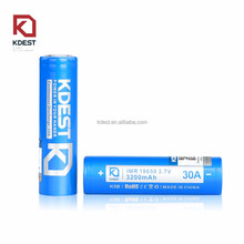 ultra power electric bike battery KDEST 3200mah 30A rachargeable IMR 18650 battery and charger