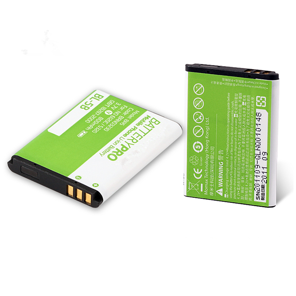 For Nokia 3220 phone battery BL-5B 3.7V 900mAh lithium battery cell bl5b