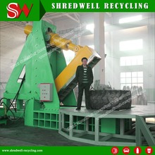 Powerful Hydraulic Waste Tire Cutter Process The Oversize Scrap Mine/OTR Tyre