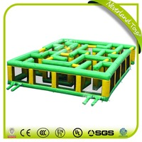 High Quality NEVERLAND TOYS Sports Games Giant Green Inflatable Maze Toy For Sale
