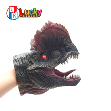 cheap pretend play toys realistic plastic dinosaur hand puppet for kids