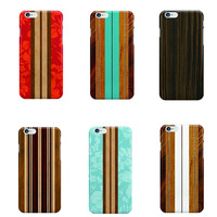 New Innovation Wood Pattern Printed Plastic Cover Case For iPhone 4s 5s 6s 6 plus Hard Back Mobile Phone Case