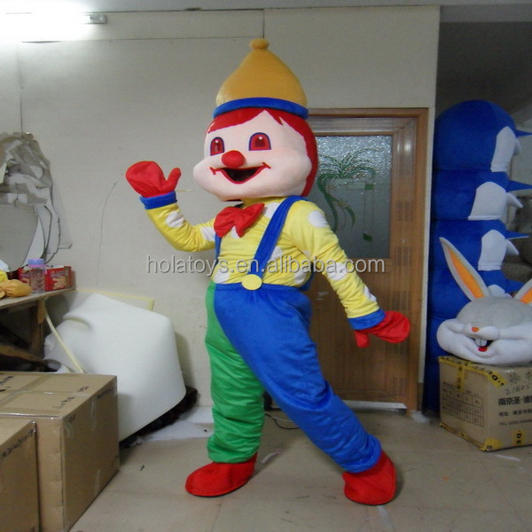Hola clown costume/cartoon costume for adult