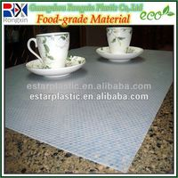 Plastic table mats and coasters for kitchen
