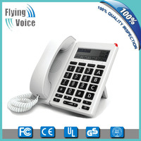 2016 latest style wireless big button 8 channels voip phone with big LCD FIP12W for seniors