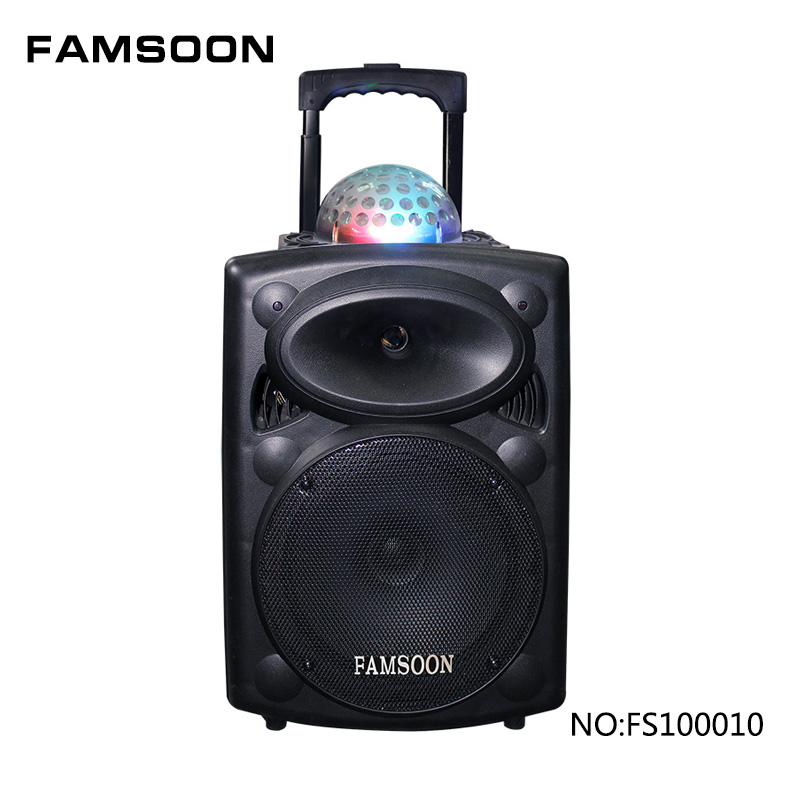 15 inch speakers active stage trolley speaker with LED light