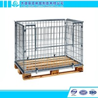 Metal Mesh Box Foldable Wire Cage Container Pallets