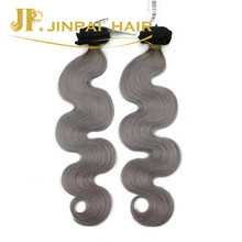 JP Soft Hair Extensions Popular #1B/Gray Tangle Free Human Hair Weave